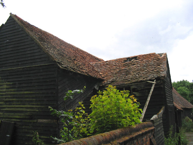 Derelict timber barn, South Weald, Essex