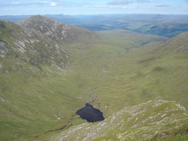 Loch a' Choire Ghlais from summit of Sròn a' Choire Ghairbh