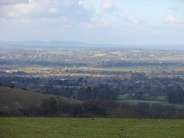 Kithurst Hill, South Downs. View N towards Storrington (TQ0814)