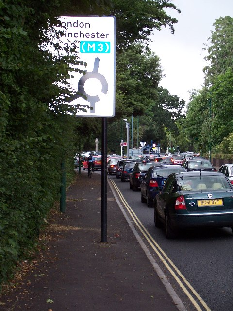 A33, Winchester Road roundabout, Southampton