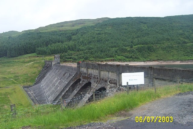 Tarsan Dam on road from Dunoon to Colintraive