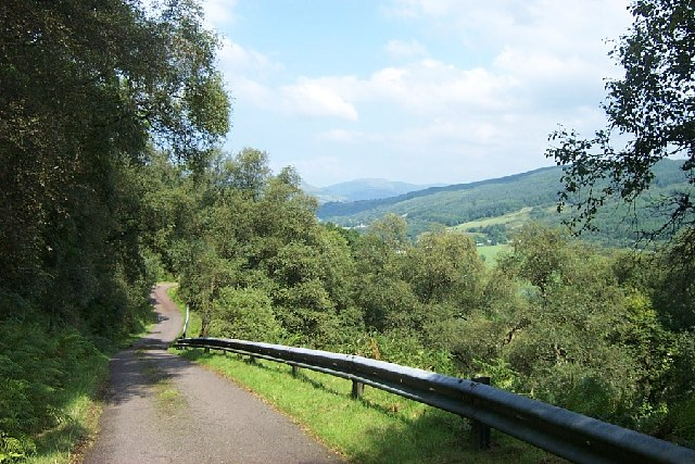 Minor road from Glendaurel to Otter Ferry, Cowal, Argyll
