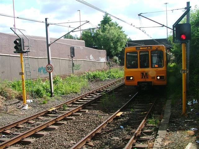 Train Approaching Heworth Metro Station