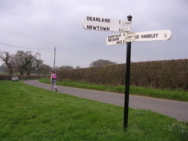 Sixpenny Handley roadsign