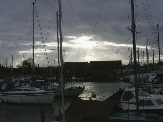 Eling tide mill and harbour