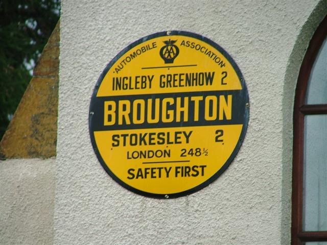AA Sign, Great Broughton Village Hall