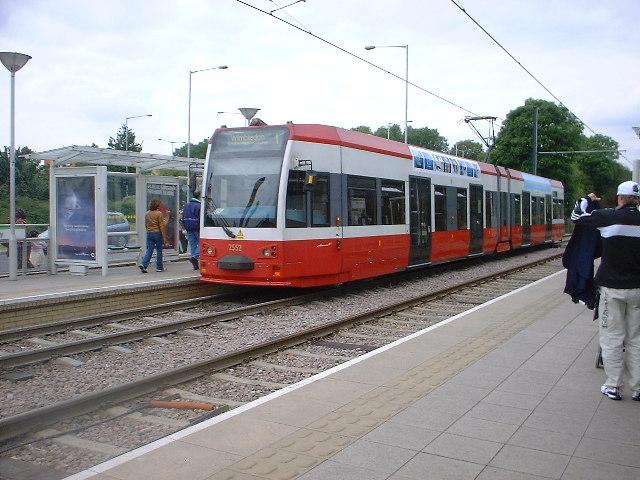 Tramlink station at Ampere Way