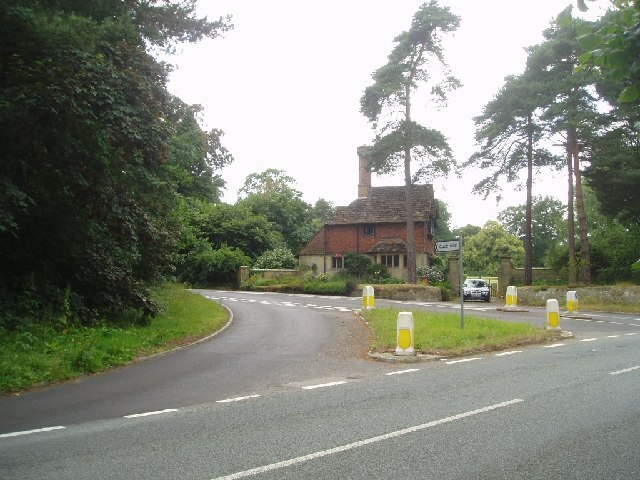 The turning for Hanlye Lane and Cuckfield