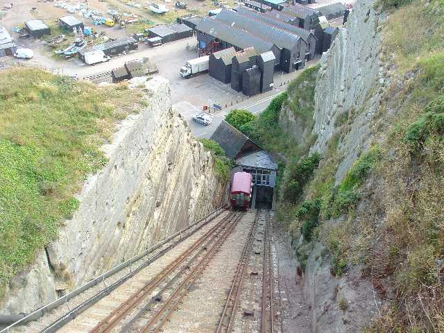 East Cliff Funicular Railway, Hastings, East Sussex