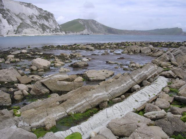 Mupe Ledges, with Worbarrow Bay in the background