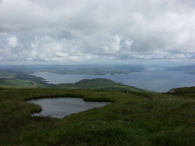 View North from Meall Mhor