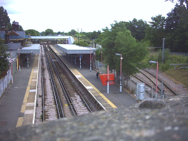 Mitcham Junction Station from Carshalton Road bridge.