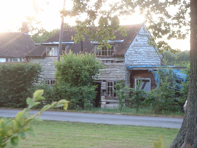 Old cottage as seen from public footpath near Blanks Lane