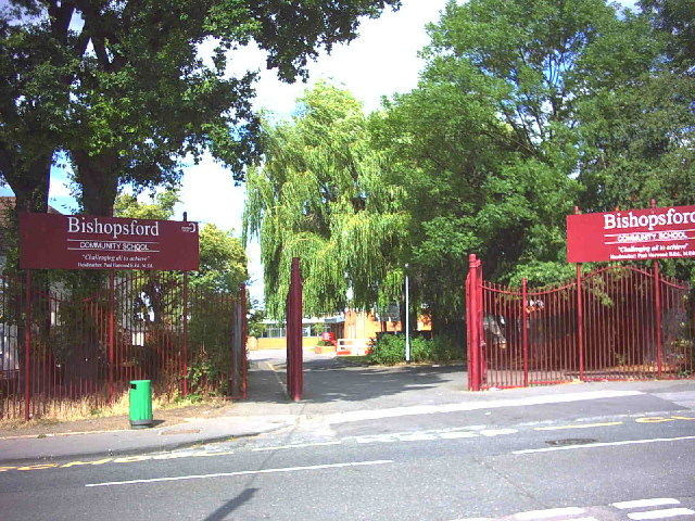 Entrance to Bishopsford Community School, Lilleshall Road.