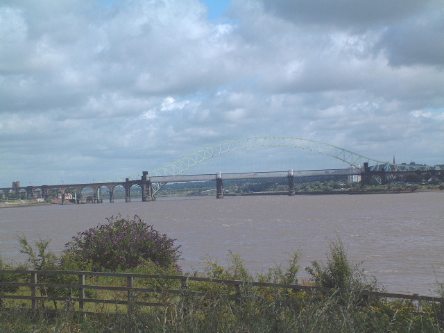 Runcorn Bridge and the Mersey