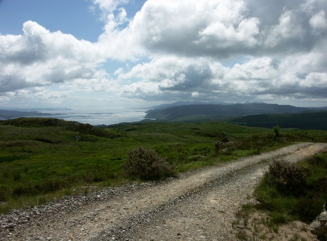 View South between Bute and Arran from track near Meall Mhor