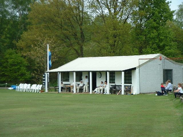 Cricket pavilion at Headley Heath