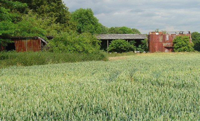 Farm buildings near Manor Royal Industrial Estate, Crawley, West Sussex