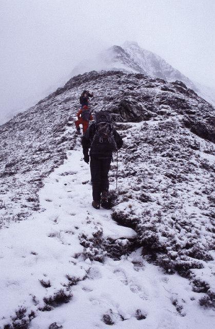 NE ridge of Sgorr Bhan, above Ballachulish