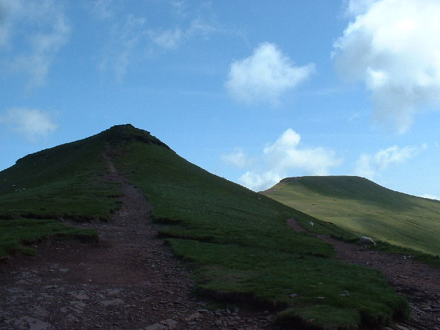 The summit of Corn Du