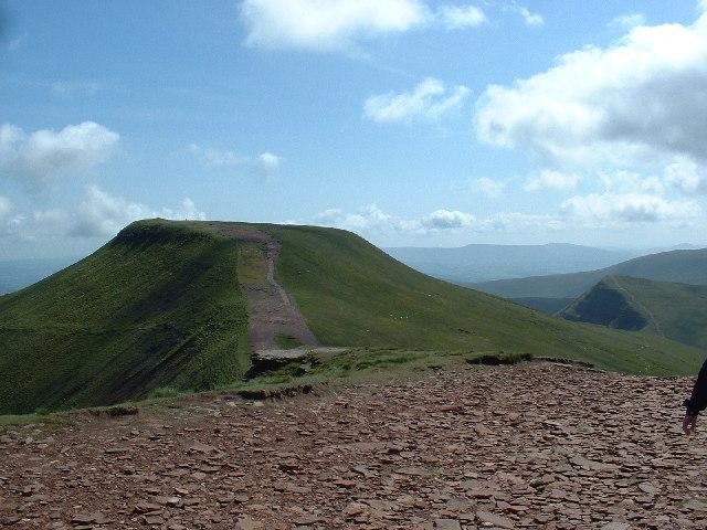 The summit of Pen y Fan, looking towards Corn Du