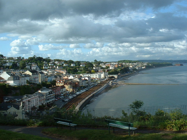 Dawlish viewed from Old Maid Rock