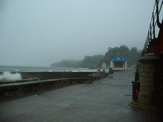 Dawlish seafront - stormy evening