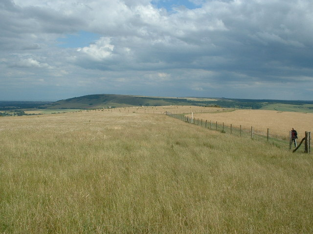 South Downs Way looking SE from Bostal Hill