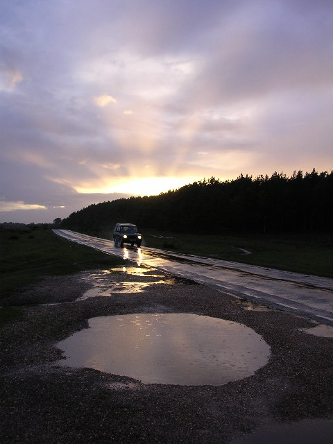 Road south of the Marchwood Inclosure, New Forest