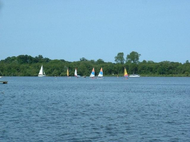 Yachts on Wroxham Broad