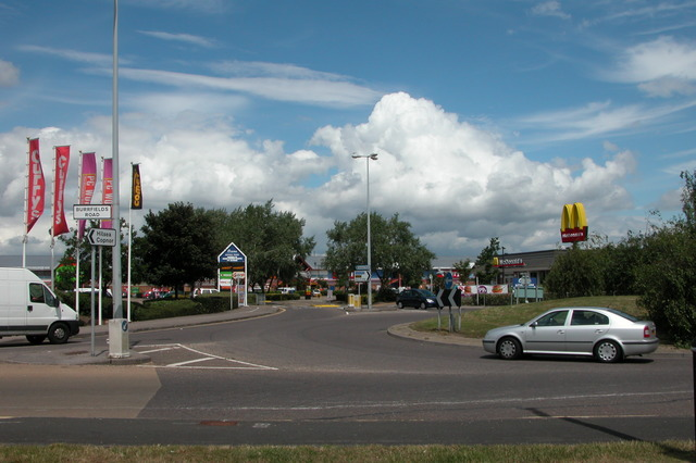 Entrance to Ocean Retail Park.