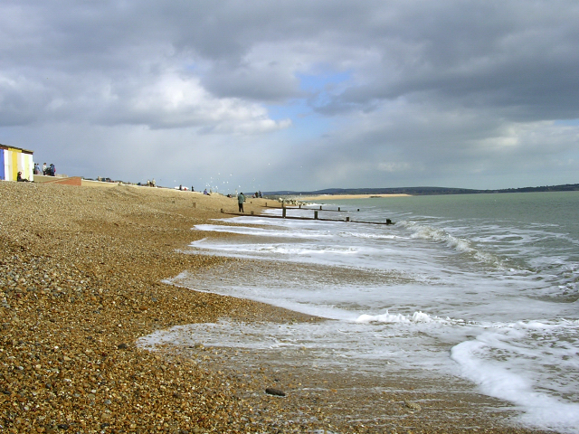 East end of Milford-on-Sea beach