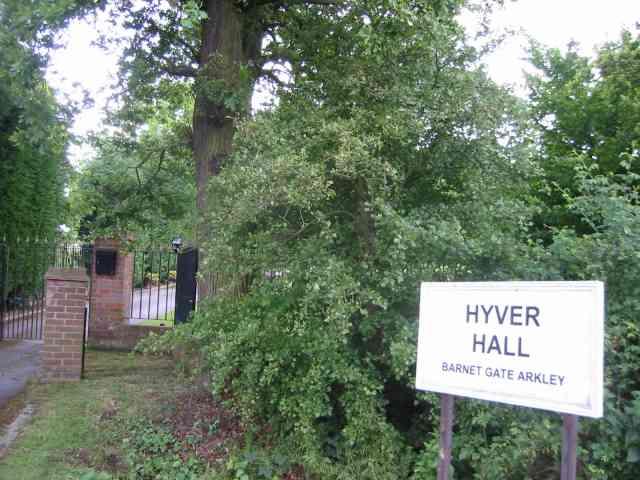 Gates to Hyver Hall Arkley