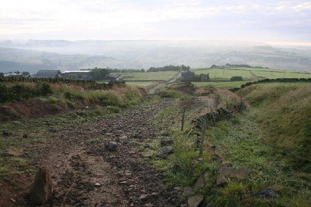 Bridleway off Moor Bottom Lane