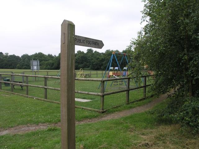 Public Footpath near Playground