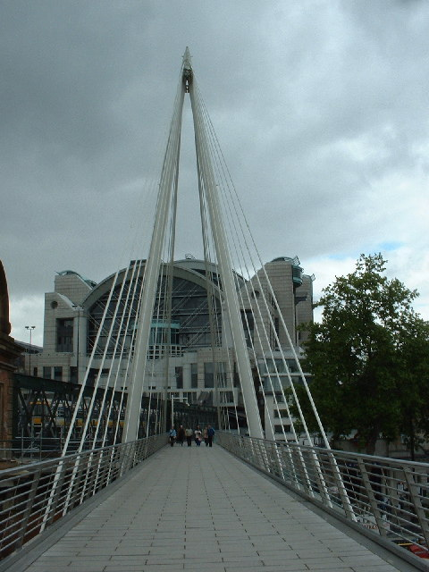 Hungerford Bridge and Charing Cross station