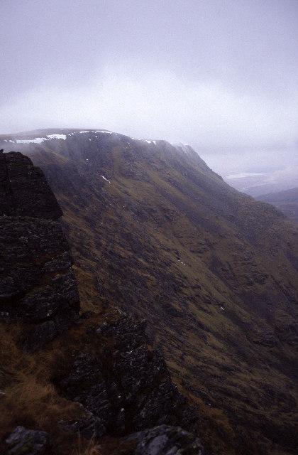 Ben Alder's eastern edge above Garbh Choire