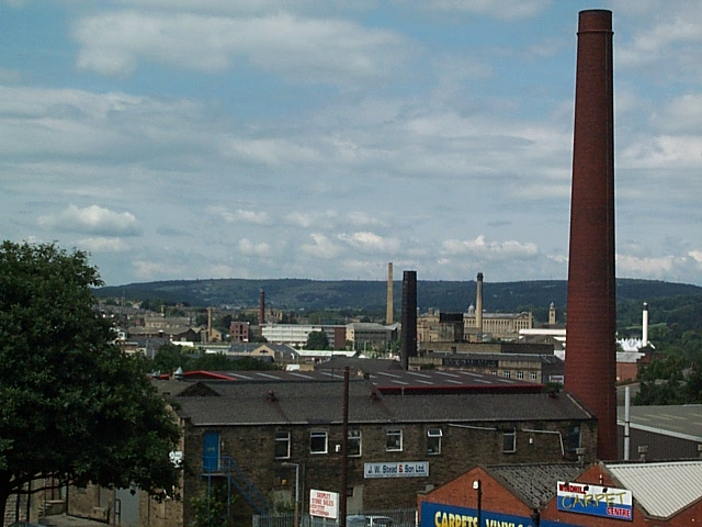 Mill chimneys at Shipley