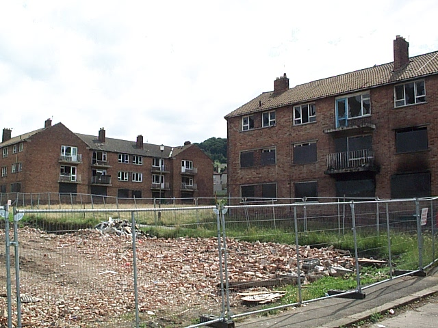 Empty flats awaiting demolition