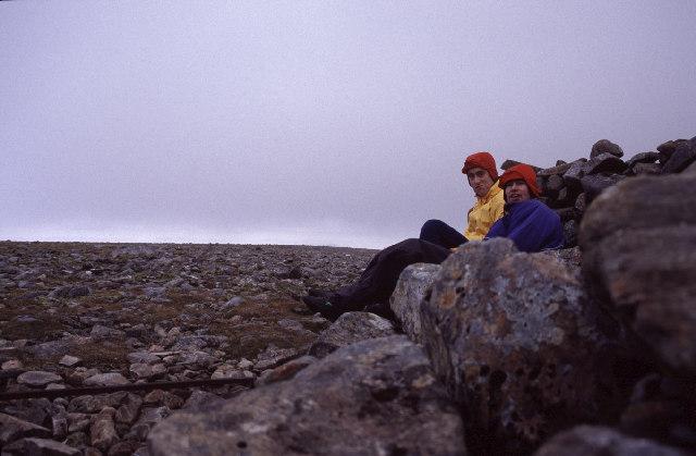 Summit cairn of Beinn Udlamain