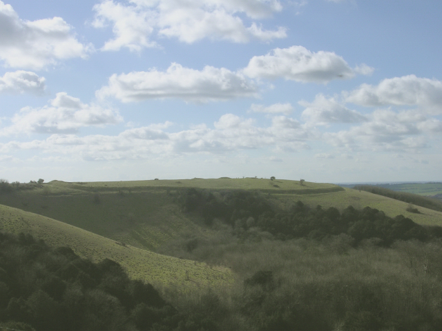 Iron Age hillfort on Old Winchester Hill