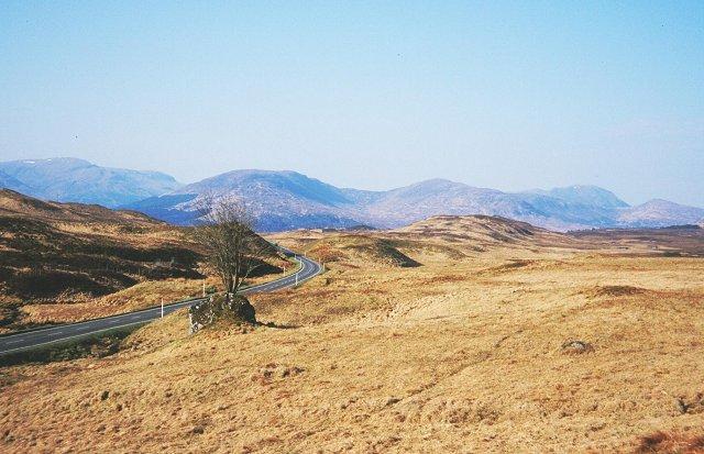 The Rannoch Moor road