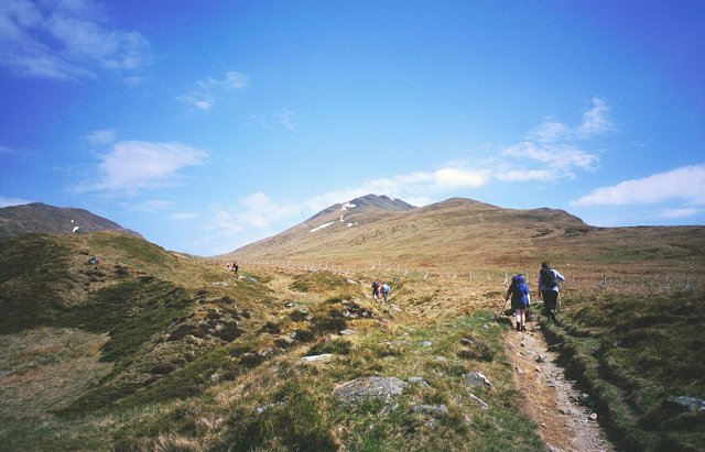 Beinn Ghlas and the enclosure
