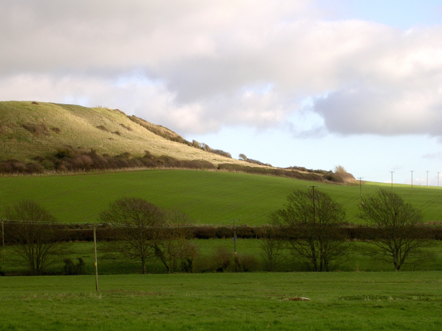 View east towards Linton Hill from Abbotsbury Swannery car park