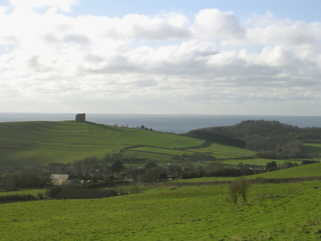 View of Abbotsbury from the Bishop's Road on Abbotsbury Plains