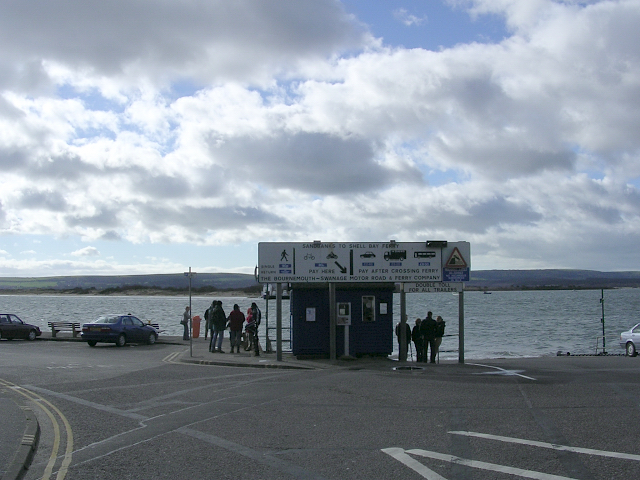 Sandbanks ferry slipway at the mouth of Poole Harbour