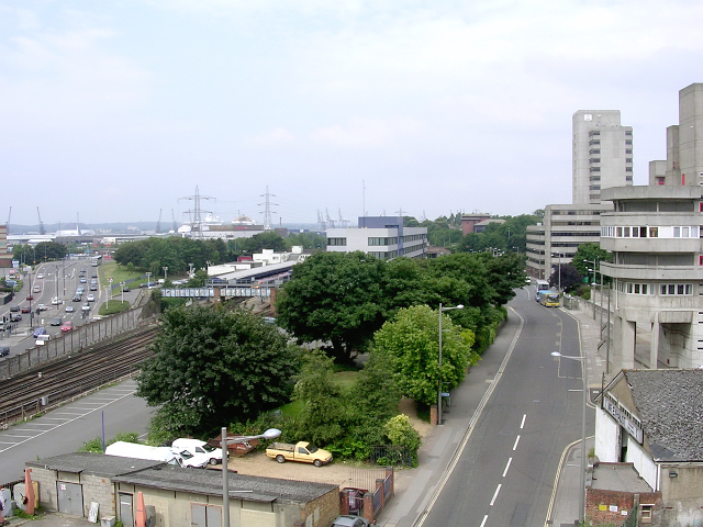 Southampton Central railway station and surroundings