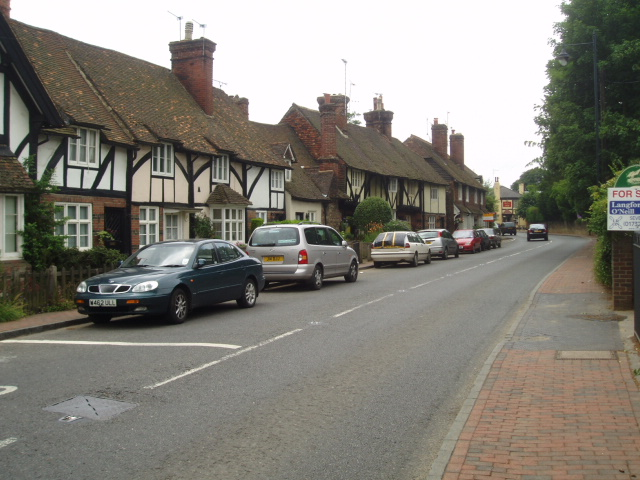Brasted High Street on the A25
