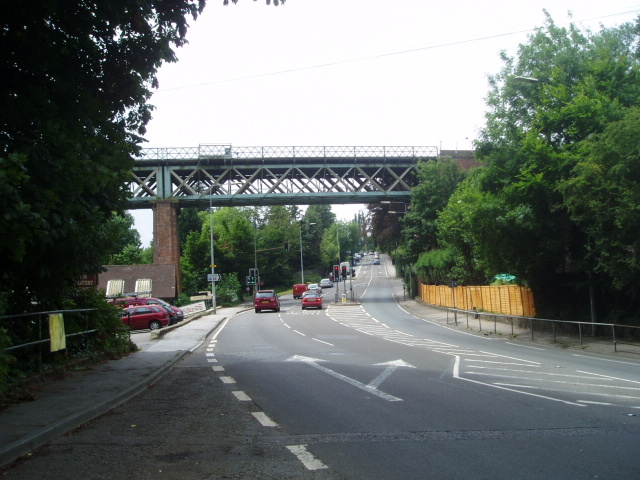 Railway bridge over the A25 at Oxted