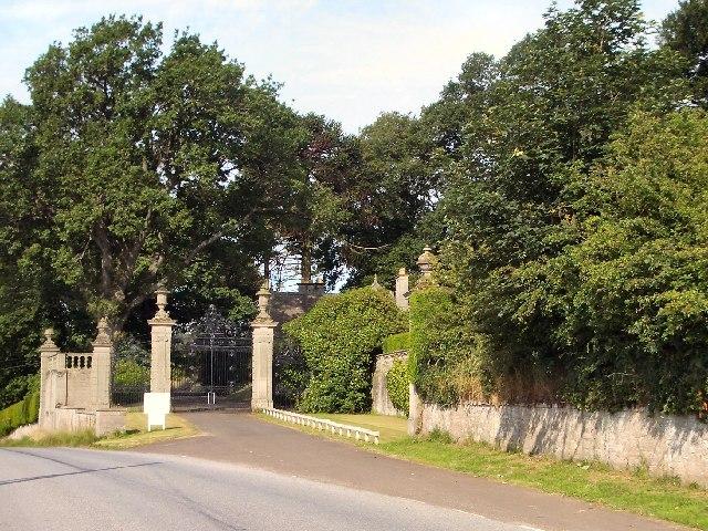 Entrance to Dupplin Castle